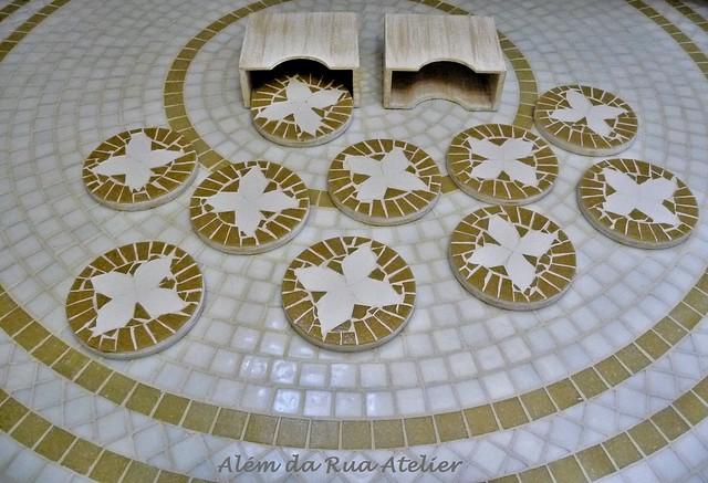 Porta-Copos de Mosaico