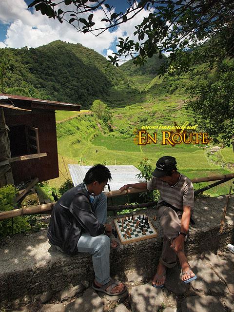 Playing Chess at Bangaan Village