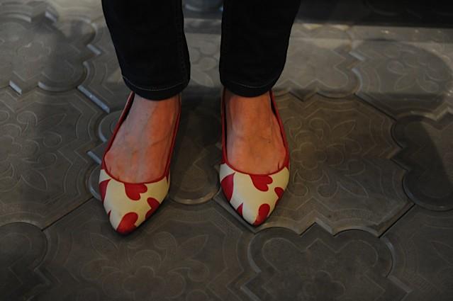 ...pa tudi v čudovite retro čeveljce...