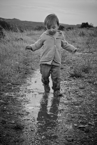 The joy of puddles #7, Les Angles, France by DAVISION