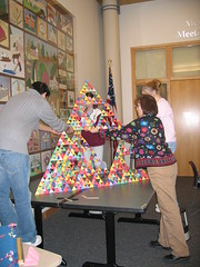 The fourth unit goes on top (chelmsfordpubliclibrary) Tags: ma chelmsford chelmsfordpubliclibrary tetrahedrons sierpinskitetrahedrons februaryvacation2008 whatsmathgottodowithit