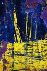 reflections on the bay (Illetirres) Tags: california blue abstract yellow painting nikon paint purple perris 18135 oerm orangeempirerailwaymuseum d80 capturenx