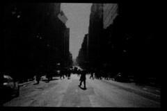 (Nocturnales) Tags: nyc bw newyork film escape unitedstates flight attempt mikaelmarguerie