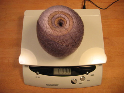 Weighing yarn