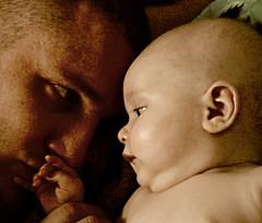 cherubian bliss... (dee.erich) Tags: baby angel painting kiss father daughter bodylanguage cherub bliss cherubian