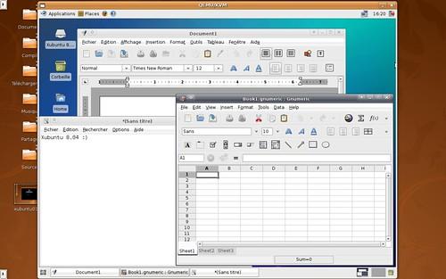 Xubuntu avec quelques logiciels légers.