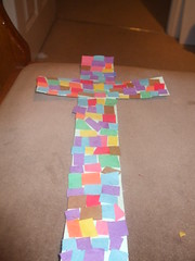 Cross made out of colourful paper (Dark Gonk) Tags: paper cross multicoloured colourful riotofcolours