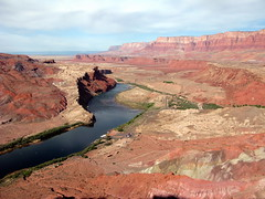 View from Spencer Trail of Lee\'s Ferry and the Vermilion Cliffs