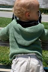 Back detail (senorayatez) Tags: knits theboys knitty daisycardigan