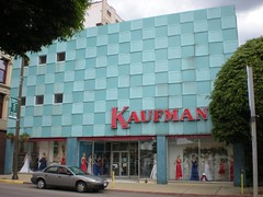 Kaufman's (neshachan) Tags: blue sign architecture facade vintage buildings 60s neon retro wv westvirginia neonsign 50s redandblue checkerboard wheeling wva dressshop blueandred kaufmans downtowns wheelingwv slipcovertecture
