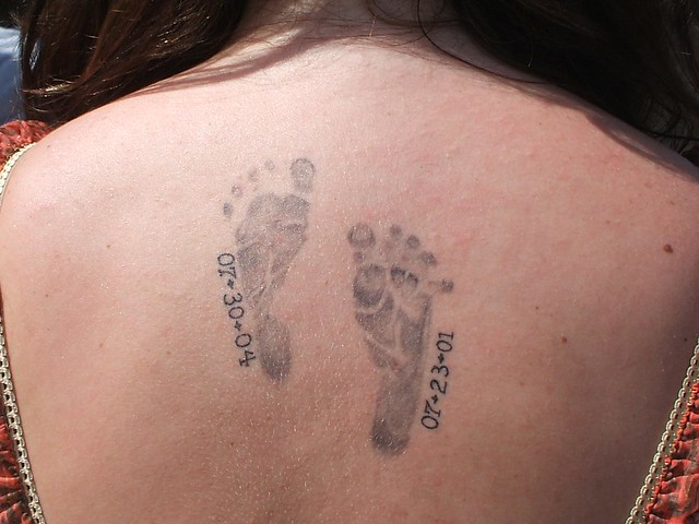 A Mother's Tattoo at the carnival. This young lady was kind enought to let