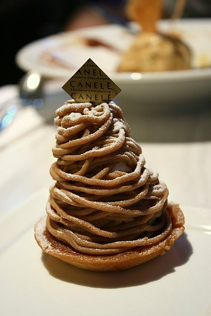 Mont Blanc - Chestnut cream and vanilla chantilly on an almond tart