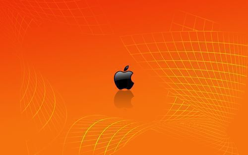wallpaper orange. Orange Apple middot; Apple Wallpaper