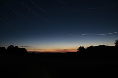 Chasing sunsets (c@rljones) Tags: longexposure sunset sky wales night canon stars landscape countryside moving cymru trails os fields rotation f56 gwynedd startrail belial 400d 102minutes httpwwwrljonescouk