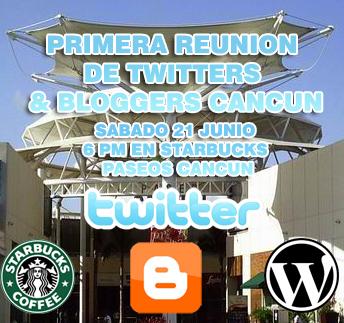Promo primera Reunion Twitters  & Blogers