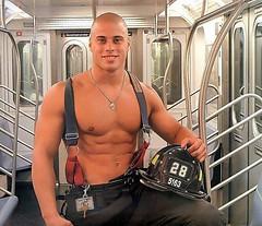 Shaved Fireman (Flatboy) Tags: haircut man hot men hair skin cut shaved shave