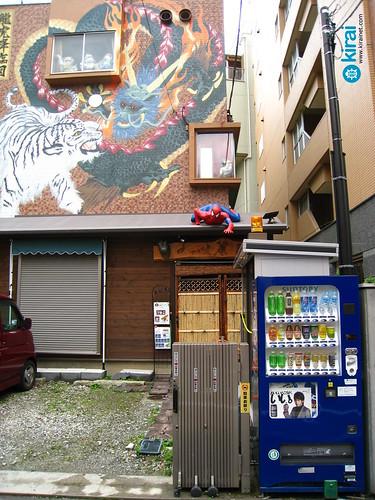Spiderman camuflado en un tejado japonés [Japan Life]