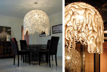 felt chandelier
