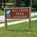 Geist Dam trail sign