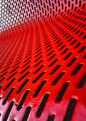 red slotz #2 (Harry Halibut) Tags: red abstract station seat railway wakefield slots allrightsreserved kirkgate linescurves anglesanglesangles rotrossorougerood red080602038 redsheff andrewpettigrew