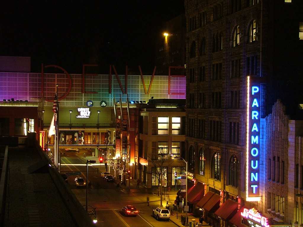 Downtown Denver, Colorado - Pavilions - Paramount Theater - 16th St. Mall