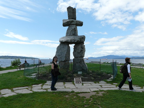 Shannon at the Inukshuk