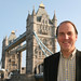 Simon Hughes by Tower Bridge in his constituency
