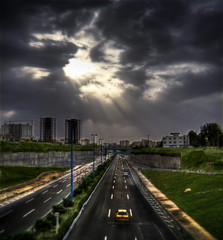 The View Of Tehran - Rays (Mehrad.HM) Tags: blue sky cloud sun west green nature view iran taxi sony structure greens tehran  hdr highdynamicrange  cloudysky samand h9     niayesh  mehrad      iranianpeople    mehradhm   cloudyskytehran skytehran    viewoftehran httpwwwflickrcomgroupsiranianpeople groupsiranianpeople