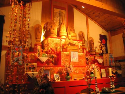 Close-up of the Buddhist shrine