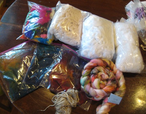 loot from the fiber fair!