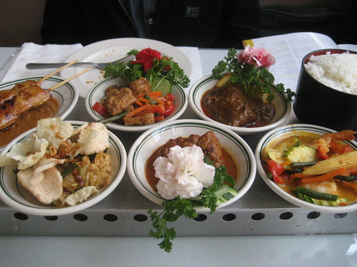 Rijsttafel, a traditional Indonesian feast