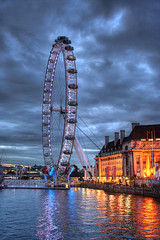 The eye at dusk