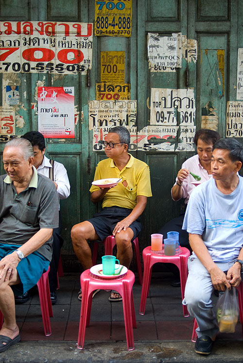 A curry dinner at Jek Pui, a popular stall in Bangkok's Chinatown that has no tables