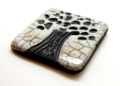 Raku Bead/Cabochon...White Crackle Tree...Raku Jewelry by MAKUstudio (MAKUstudio) Tags: arizona white tree phoenix ceramic ceramics artist handmade oneofakind ooak jewelry clay indie pottery bead handcrafted etsy emt crackle raku bao fired cabochon makustudio mariannekasparian etsymudteam artbead baoteam beadartoriginals