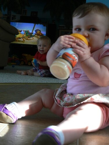 Testing out a sippy cup
