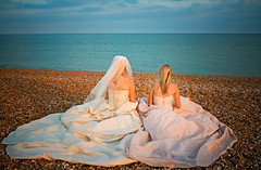 Vivienne and Isabel (Bustles and Bows - Anne Marie Bridals) Tags: wedding marie anne sussex bride models dresses boutique weddingdress bridal eastsussex bows anupam romantica bridalgown alfredangelo foreveryours annemaries steviesgowns helenmarina wearbustles bowsbustles
