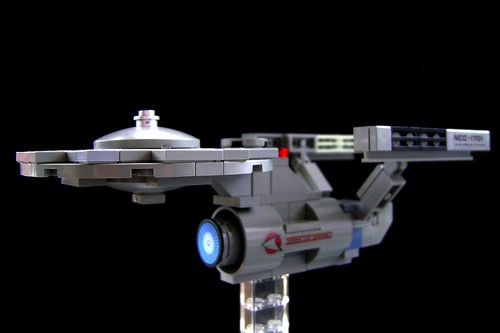 Fascinating Lego Model Of The Day Microscale Uss Enterprise From