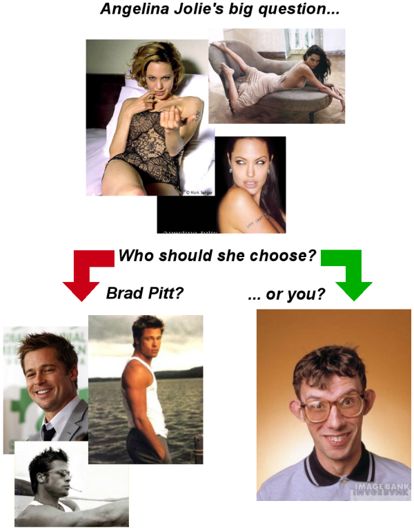 Angelina Jolie needs to choose between Brad Pitt and you...