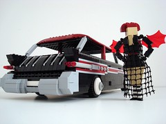 Lego Sue And Her '57 Pontiac Safari! (Lino M) Tags: seattle black car station dark wagon spider lego muscle goth 1957 blackwidow custom lino lugnuts legosue buildchallenge sympathyfortheunderdog 57pontiacsafari