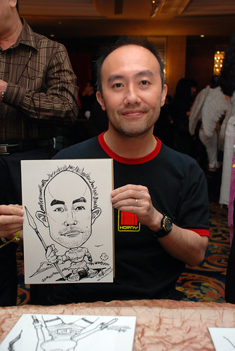 Caricature live sketching for Temasek Holdings D&D 2008 Hero Night 3