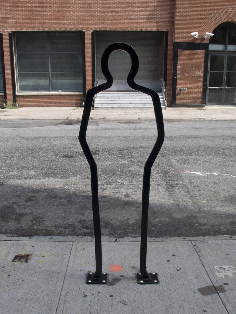 David Byrne Bike Rack on 25th street