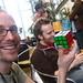 Aral pretends to solve a Rubik's cube