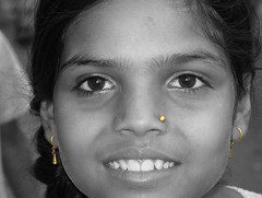Local girl. (Linda De Volder (the new layout is horrible)) Tags: india sikkim namchi southsikkim girl child himalaya travel people portrait children kid selectivecolor geotagged kind enfant nio    dijete dt barn lapsi   bambino   dziecko criana copil  bw blackandwhite blackwhite lindadevolder
