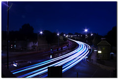 light trails on Hendon Way (KevinMPringle) Tags: light london canon eos trails a41 400d hendonway