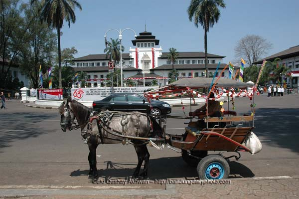 HORSE CART IN FRONT OF GEDUNG SATE copyrights Eki Akhwan