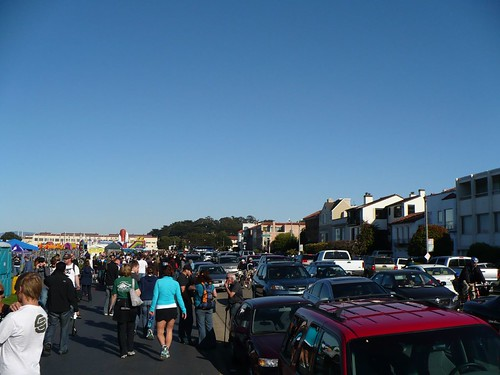 Marina Street During Fleet Week Traffic
