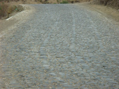 The cobbled highway between Aiquile and Totora, Bolivia.