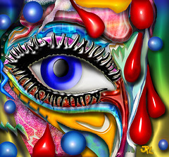 blood sweat & tears (artist101) Tags: blue eye drops blood tears artistic expression sweat theunforgettablepictures colourartaward rubyphotographer artist101 awardtree 100commentgroup