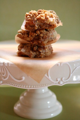 Caramel Apple Bars on stand