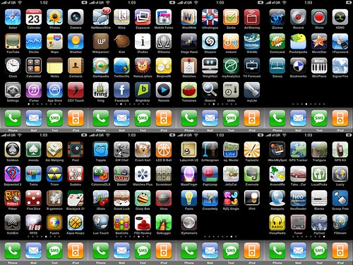 My iPhone Screens 22/10/2008